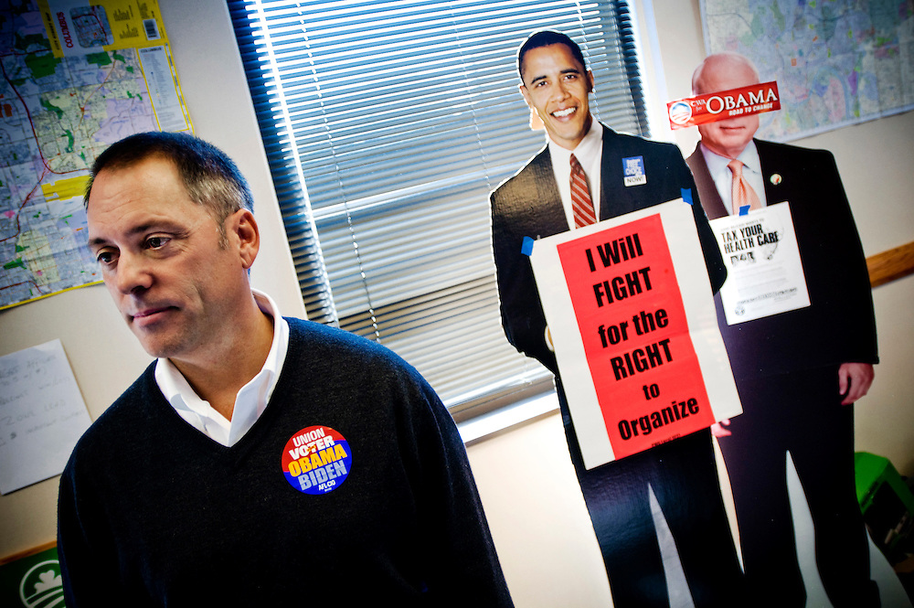 Ohio Swingstate..Tim Burga Union spokesperson .Fackf??reningstalesman..Photographer: Chris Maluszynski /MOMENT