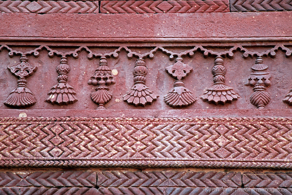Asia, India, Fatehpur Sikri. Architectural detail at Fatehpur Sikri.