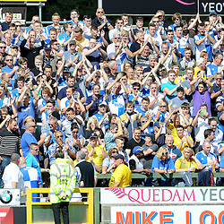 Bristol Rovers fans - Mandatory byline: Neil Brookman/JMP - 07966386802 - 15/08/2015 - FOOTBALL - Huish Park -Yeovil,England - Yeovi Town v Bristol Rovers - Sky Bet League One