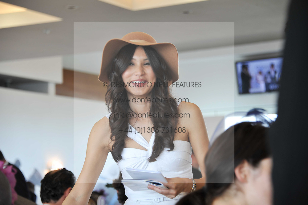 GEMMA CHAN at the Investec Derby at Epsom Racecourse, Epsom Downs, Surrey on 4th June 2011.