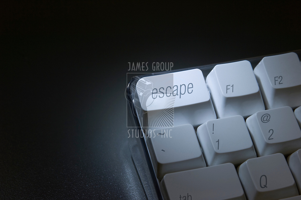 "Closeup of the ""escape"" key on a computer keyboard"