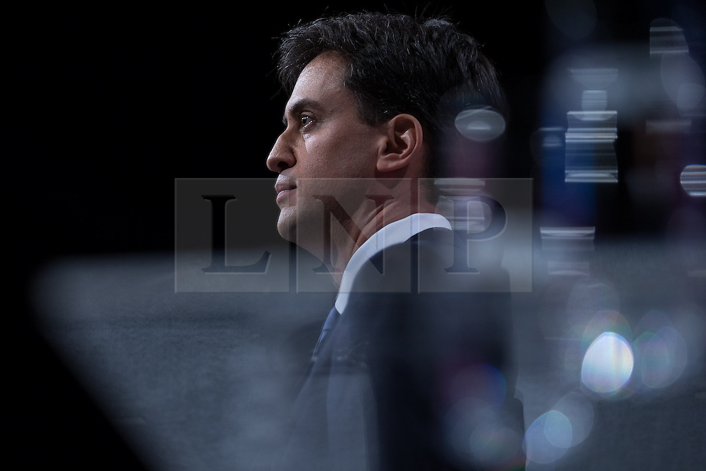 © Licensed to London News Pictures . 23/09/2014 . Manchester , UK . ED MILIBAND delivers the Leader's speech to the conference . The Labour Party Conference 2014 . Photo credit : Joel Goodman/LNP