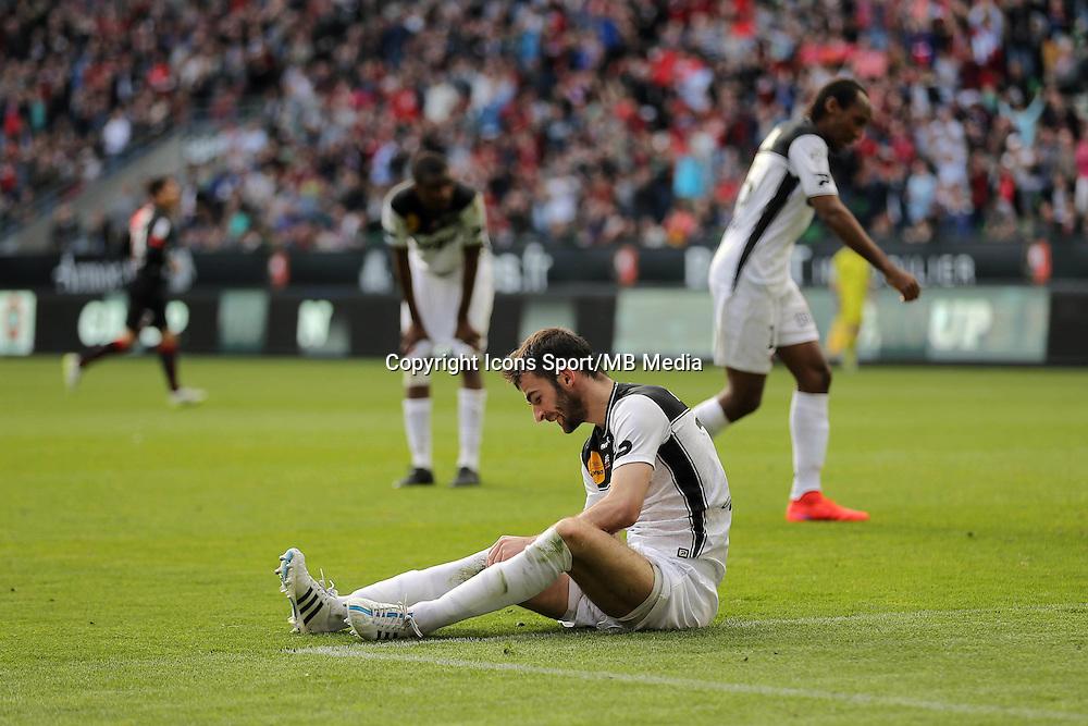 DECEPTION  Christophe KERBRAT - 12.04.2015 - Rennes / Guingamp - 32eme journee de Ligue 1 <br />Photo : Vincent Michel / Icon Sport