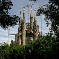 20110903 - Barcelona, Spain - La Sagrada Familia as seen from a park in Barcelona, Spain.  Photo by Matthew Healey