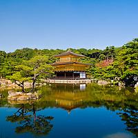 "Kinkaku-ji Temple, ""The Temple of the Golden Pavilion,"" in Kyoto Japan"