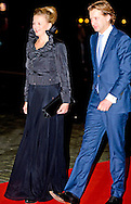 1-2-2014  ROTTERDAM NETHERLANDS  Princess Mabel with prince floris   arrives  for the celebration party for Queen Beatrix to thank fed for being 33 years the Queen of the Netherlands COPYRIGHT ROBIN UTRECHT