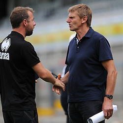 Bristol Rovers assistant manager,Marcus Stewart and Alan Walsh - Photo mandatory by-line: Dougie Allward/JMP - Mobile: 07966 386802 - 18/07/2015 - SPORT - Football - Bristol - Memorial Stadium - Pre-Season Friendly