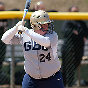 Goldey-Beacom Utility player Taylor Ewing (24) at bat in the third inning of game #1 of NCAA Central Atlantic Collegiate Conference (doubleheader) against Post University Saturday, March 30, 2013, at Nancy Churchmann Sawin Athletic Field in Wilmington Delaware.