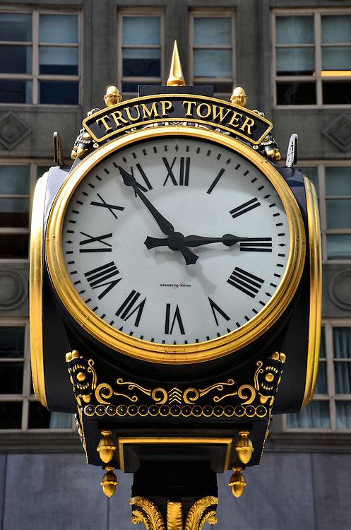 Trump Tower Outdoor Clock In New York City New York Encircle Photos
