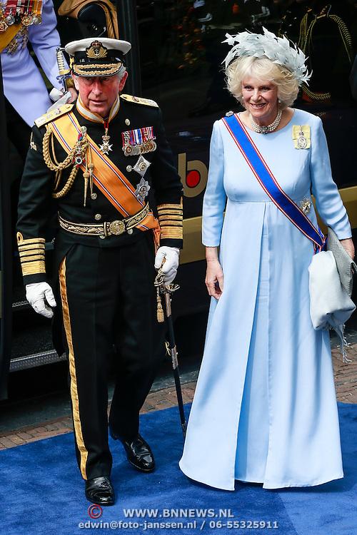 NLD/Amsterdam/20130430 - Inhuldiging Koning Willem - Alexander, Camilla Parker Bowles en prince Charles of England