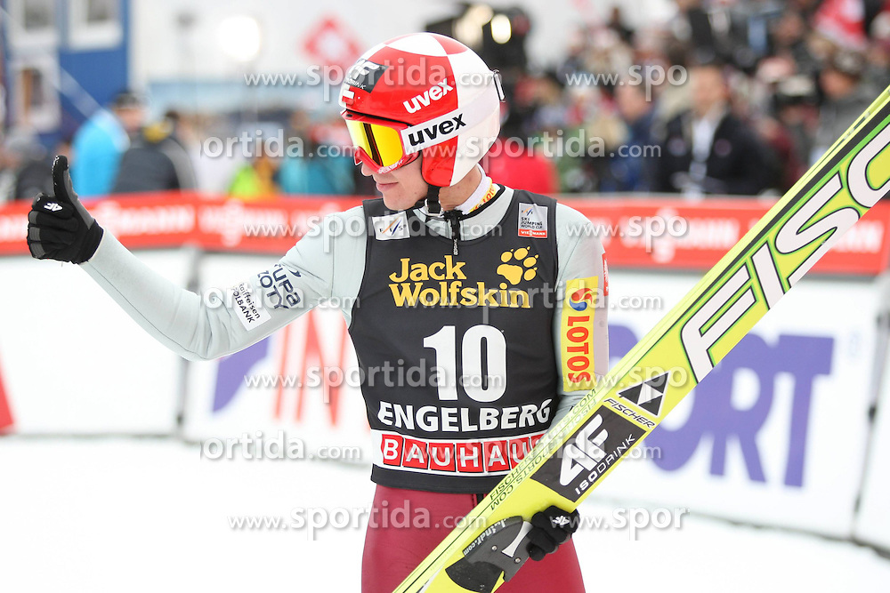 15.12.2012, Gross Titlis Schanze, Engelberg, SUI, FIS Ski Sprung Weltcup, Herren, im Bild KAMIL STOCH // during mens FIS Ski Jumping world cup at the Gross Titlis Hill, Engelberg, Switzerland on 2012/12/15. EXPA Pictures © 2012, PhotoCredit: EXPA/ Newspix/ Tadeusz Mieczynski..***** ATTENTION - for AUT, SLO, CRO, SRB, BIH, TUR, SUI and SWE only *****