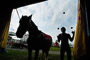 04/25/07-(Harrisonburg).Cole Brothers Circus Tent raising.(Pete Marovich/Daily News-Record)