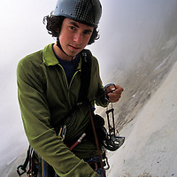 Colin Haley on Rebel Yell, Chianti Spire, Washington Pass.
