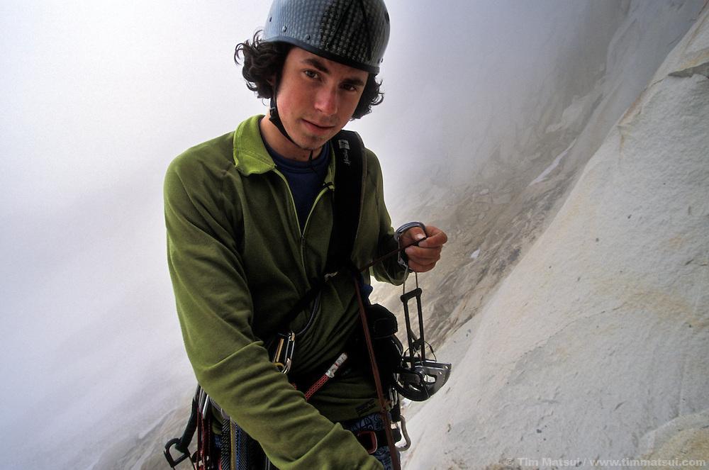 Colin Haley on Rebel Yell, Chianti Spire, Washington Pass.