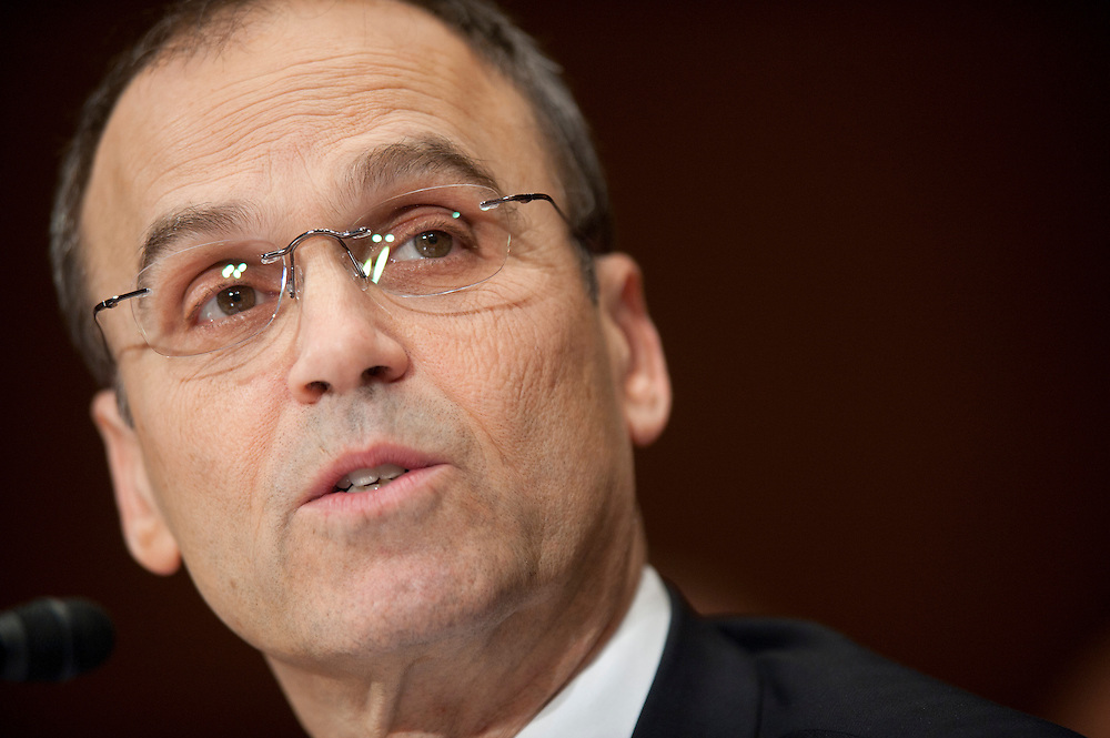 """Feb 16, 2011 - Washington, District of Columbia, U.S. - SCOTT TUROW, president of the Authors Guild, New York, N.Y. testifies during a Senate Judiciary Committee hearing on """"Targeting Websites Dedicated To Stealing American Intellectual Property."""" (Credit Image: © Pete Marovich/ZUMA Press)"""