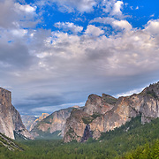 Yosemite Valley Overlook - Big Sky Clouds - HDR