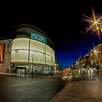 Exeter high street by night