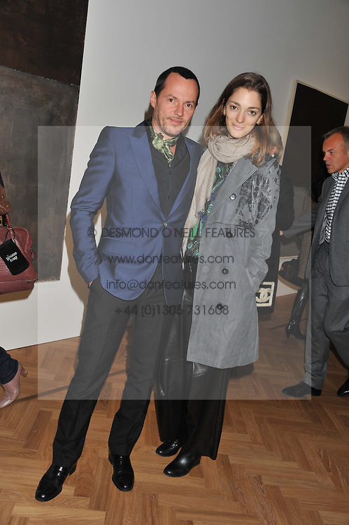 French fashion and furniture designer ALEXANDRE de BETAK and SOFIA SANCHEZ at a party to celebrate the launch of the new gallery Pace at 6 Burlington Gardens, London on 3rd October 2012.