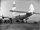 1958 - Inaugural New York to Dublin Aerlinte flight arrives at Dublin Airport