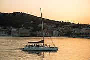 Travel in Croatia<br /> <br /> A sailboat arriving in Split harbor.<br /> <br /> June 2013<br /> Matt Lutton