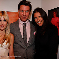 """Tinsley Mortimer, Peter Davis and Anne Caruso attend the opening of """"Lady"""" by Douglas Friedman at the Ruffian Gallery on April 23, 2009 in New York City."""