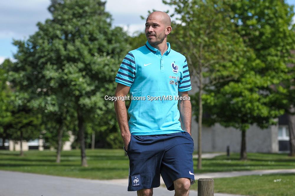 Christophe Jallet - 01.06.2015 - Entrainement - Equipe de France - Clairefontaine<br />Photo : Andre Ferreira / Icon Sport