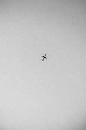 September 2015. Thessaloniki. Plane going to land at Thessaloniki's airport.