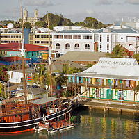 Americas, Caribbean, West Indies, Antigua and Barbuda. THe port of St' John's, Antigua.