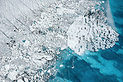 Glacial meltwater collects in unnamed seasonal lake atop the Greenland ice sheet, August, 2014.