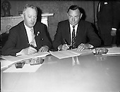 1961 -  Mr. John Sisk signs the contract for the construction of Liberty Hall