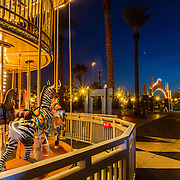 The Double-Decker Carousel at Kemah Boardwalk. Kemah Boardwalk is an entertainment complex in Kemah, Texas, featuring an amusement park, hotel, dining, and music.