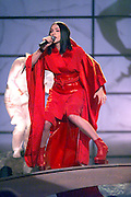 Madonna performing on the 41st Annual Grammy Awards at the Shrine Auditorium in Los Angeles. She won four Grammy Awards.