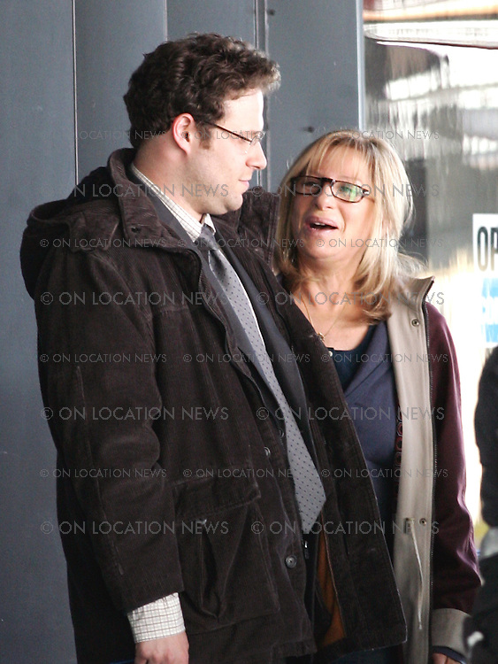 May 3rd, 2011  Los Angeles, CA. ***EXCLUSIVE*** Barbra Streisand & Seth Rogen begin filming My Mothers Curse. Streisand will play Rogen's Mother in this comedy and the two will travel across the country together. In this scene they are picking up a rental car to begin their trip. Photo by Eric Ford/Danny Mayer 818-613-3955  / 310-600-7068  info@onlocationnews.com, danny@dannymayer.com