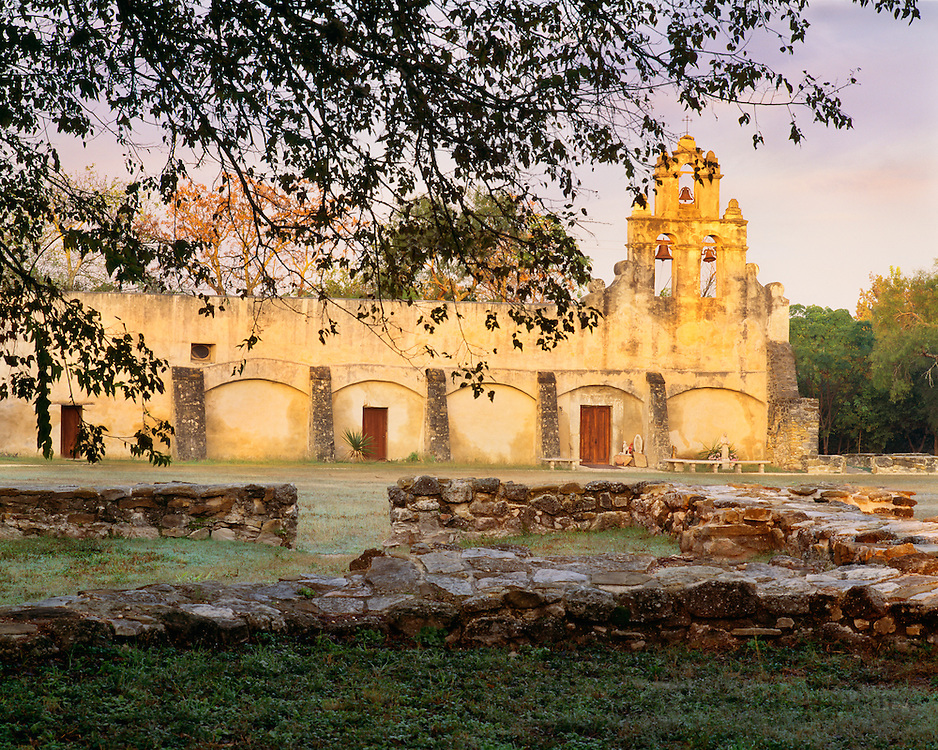 0506-1076 ~ Copyright: George H.H. Huey ~ Mission San Juan Capistrano, founded 1731.  San Antonio Missions National Historical Park, Texas.