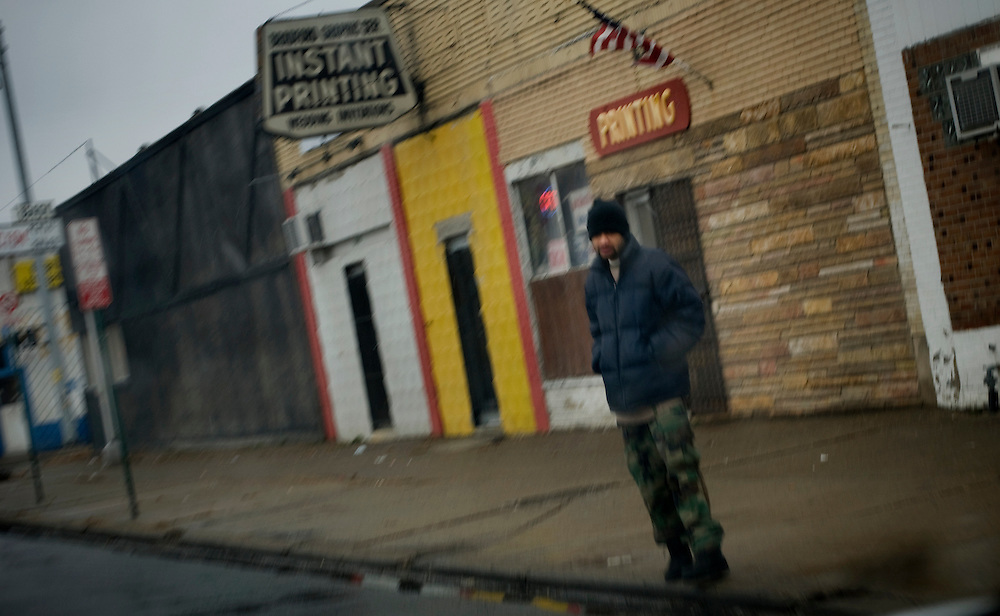 Street scene in Detroit..Photographer: Chris Maluszynski /MOMENT