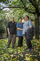 """""""We just got off work...we're  neighbors and friends...we've lived and worked in Calistoga for nearly 20 years...we love it here.""""  -Hotel Housekeepers Andrea Hernandez, Maria Carrillo and Irene Parada near their homes in Calistoga"""