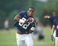 Ole Miss' 	Temario Strong at football practice in Oxford, Miss. on Saturday, August 3, 2013.