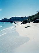 Pure white sand of Bai Sao (Star Beach.)