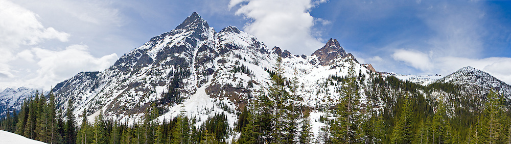 Cutthroat and Whistler Peaks in North Cascades National Park.
