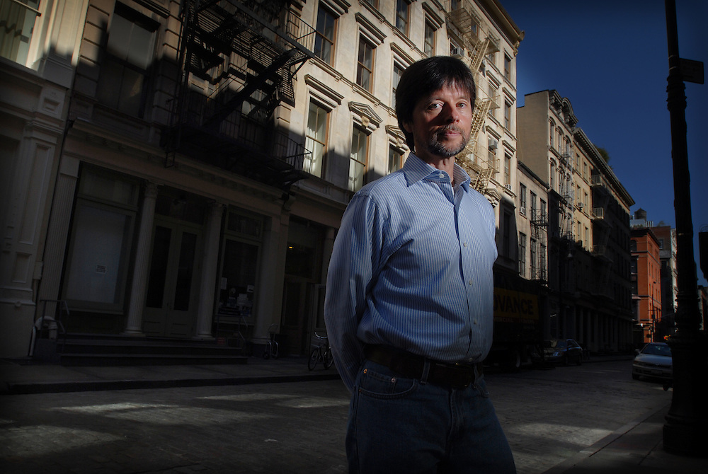 "Ken Burns celebrated Documentarian in SoHo, new York today. His new Doc ""the War"" has been criticised by Latino advocacy  groups because contributions of over half a million Hispanic troops were all but ignored in the 15 hour film."