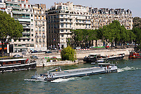 Seine River in Paris France in Spring time of May 2008