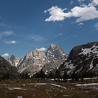 WY00624-00...WYOMING - The Teton Range as seen from Lake Solitude in Grand Teton National Park.