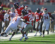 Ole Miss' Korvic Neat (28) vs. Arkansas at Vaught-Hemingway Stadium in Oxford, Miss. on Saturday, October 22, 2011. .