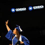 Undergraduate Commencement, Spokane Veterans Memorial Arena.<br /> <br /> Photo by Rajah Bose