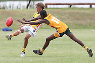 POTCHEFSTROOM, SOUTH AFRICA - JANUARY 28, Ben Davis (Maroubra, NSW) of the Australian Boomerangs during the AFL Game 1 match between the Flying Boomerangs and South African Lions under 18's at Mohadin Cricket Ground on January 28, 2013 in Potchefstroom, South Africa.Photo by Roger Sedres / Image SA