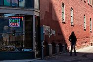 Butte, Montana, Curtis Music Hall, Park Street, alley, uptown
