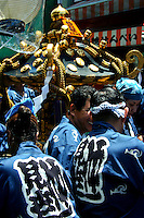 The Sanja Matsuri is the biggest of Tokyo's festivals.  Held at Asakusa Shrine the Sanja festival is a three-day blowout of boisterous processions through the streets, with plenty of drinking, dancing, music and other lively fun. Held near Sensoji Shrine in Tokyo, the huge parade draws over two million people into the streets.