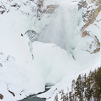 Lower Falls of the Yellowstone during winter