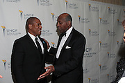 3 March 2011- New York, NY-  l to r: Stephen Barr and Vernon Jordan at the UNCF ' A Mind is'  Gala held at the Marriott Marquis Hotel on March 3, 2011 in New York City. Photo Credit: Terrence Jennings
