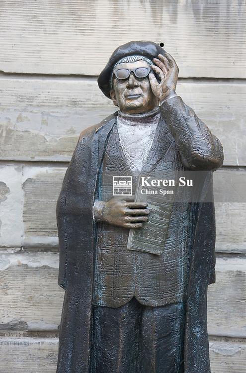 Bronze statue on the street, Stockholm, Sweden